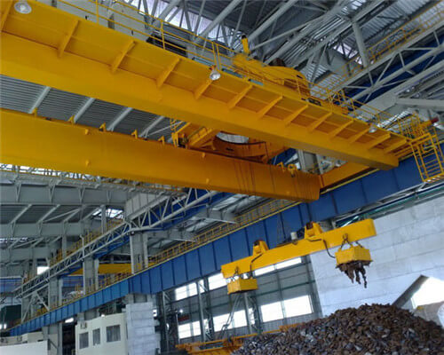 Electromagnetic 10t double girder crane for sale