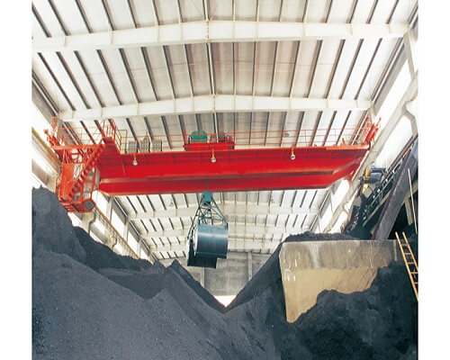 15 ton double girder grab bucket crane for sale