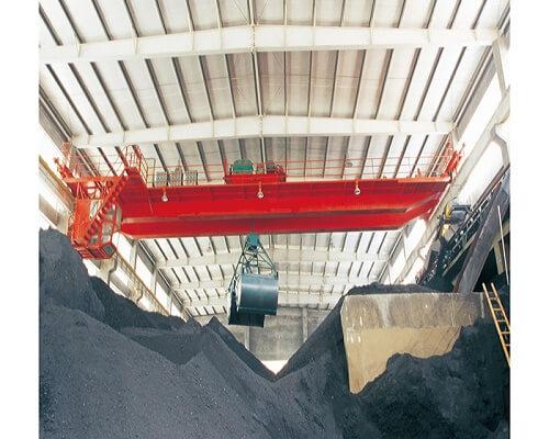 15 ton double girder grab bucket crane for sale