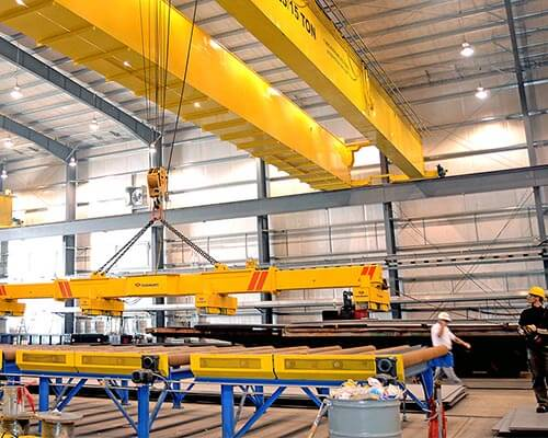 competitive overhead crane exported to Italy