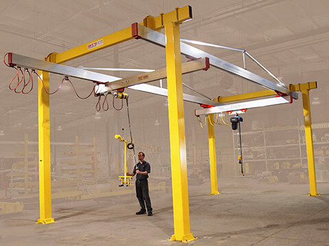 customized free standing bridge crane for sale