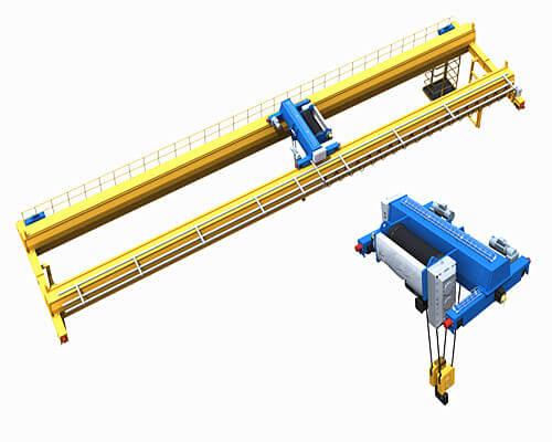 5 ton double girder overhead crane